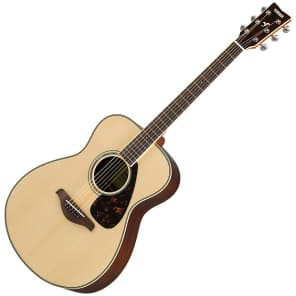 Yamaha FS830 Solid Spruce Top Concert Acoustic Guitar Natural