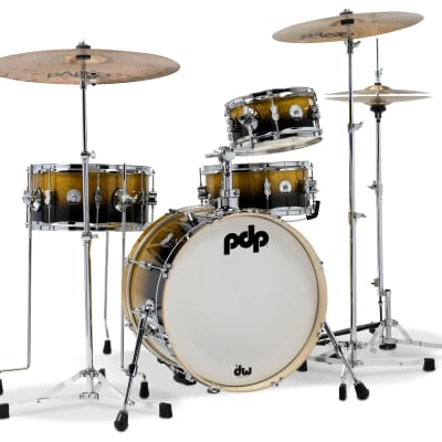 "PDP PDDJ1804YBPK Daru Jones Signature New Yorker 5x10/7x14/10x18/6x13"" 4pc Drum Set"