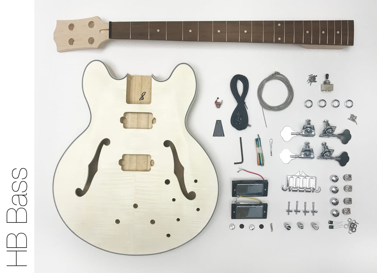 Build Your Own Semi Hollow Body Guitar Kit