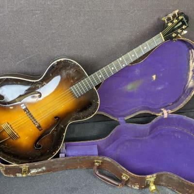Vintage 1937 New York USA Epiphone Masterbuilt Zenith Archtop Acoustic Guitar Sunburst w/ OHSC