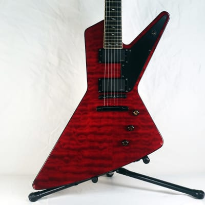 2008 Epiphone Futura Custom Prophecy Red Quilt Top EMG Pickups w/ Dean Hardshell Case for sale
