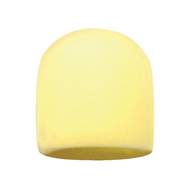 shure a58wsyel yellow foam windscreen for ball mic zzounds reverb. Black Bedroom Furniture Sets. Home Design Ideas