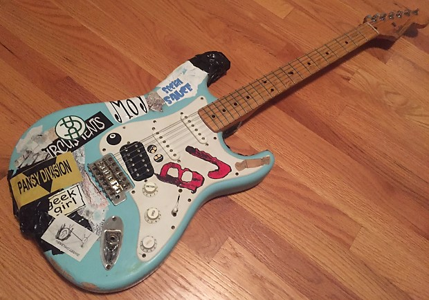 Fender Billie Joe Armstrong Tribute Stratocaster Daphne Blue Reverb