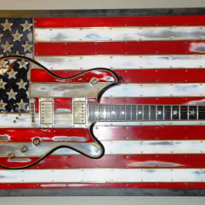 2013 McSwain Red White and Bullets SM-2 Custom Made Red White and Blue Electric Guitar for sale