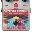 Alexander Pedals Syntax Error Audio Computer System