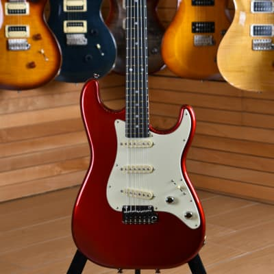 Schecter Traditional Made in USA Route 66 Amarillo SSS Metal Red for sale