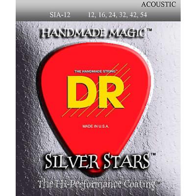DR SIA-11 Silver Stars Phospur Bronze Acoustic Strings Light .011 - .050