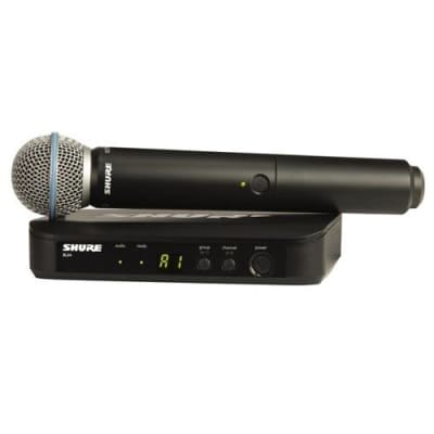 Shure BLX24/B58 Handheld Wireless System, Includes BLX4 Single-channel Receiver, BLX2 Handheld Transmitter with Beta 58A Microphone, H10: 542.125-571.