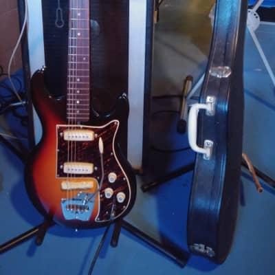 MIJ Hy-Lo Strat Style 1960's Sunburst Guitar With OEM Case for sale