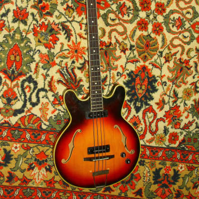 Musima 1657B semihollow bass USSR Germany GDR Vintage Soviet for sale