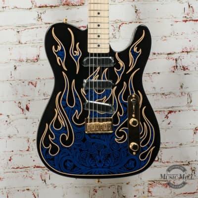 Fender James Burton Telecaster® - MN - Blue Paisley Flames x9642