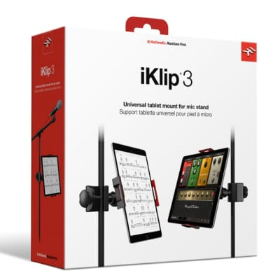 IK Multimedia iKlip 3; A Secure Mount You Can Trust - Holder/ Universal Mount Adjustable for Tab