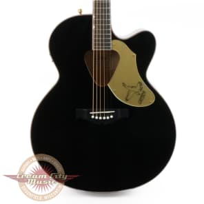 Gretsch G5022CBFE Rancher Falcon Jumbo Cutaway Acoustic Electric in Black for sale