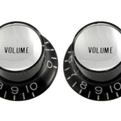 Allparts Black Volume Reflector Knobs (Qty 2)