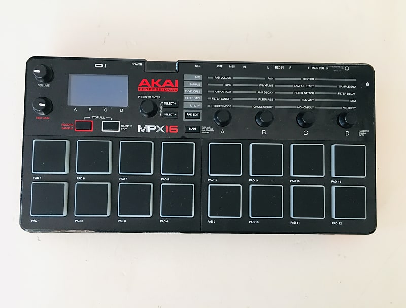 akai professional mpx16 16 pad sample player and recorder reverb. Black Bedroom Furniture Sets. Home Design Ideas