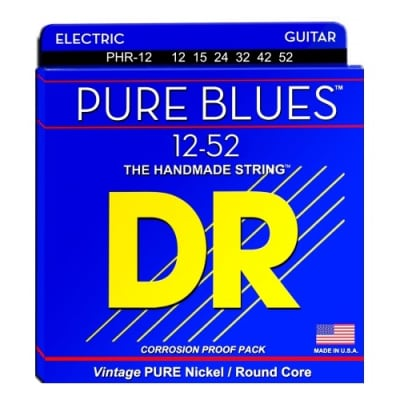 DR PHR-12 Pure Blues Nickel ExHeavy Electric Guitar Strings, .012 - .052
