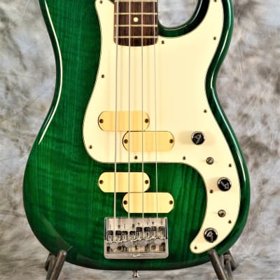 Fullerton built 1983 Fender Precision Bass Elite  II - Rare Transparent Emerald Green for sale