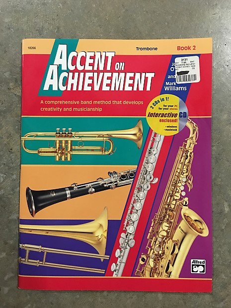 alfred music accent on achievement trombone book 2 reverb. Black Bedroom Furniture Sets. Home Design Ideas