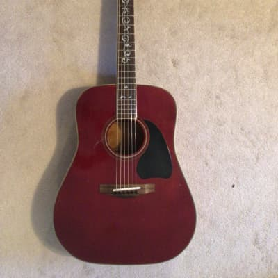 Marina Mark 32-WR.  Wine red dreadnaught with pickup for sale