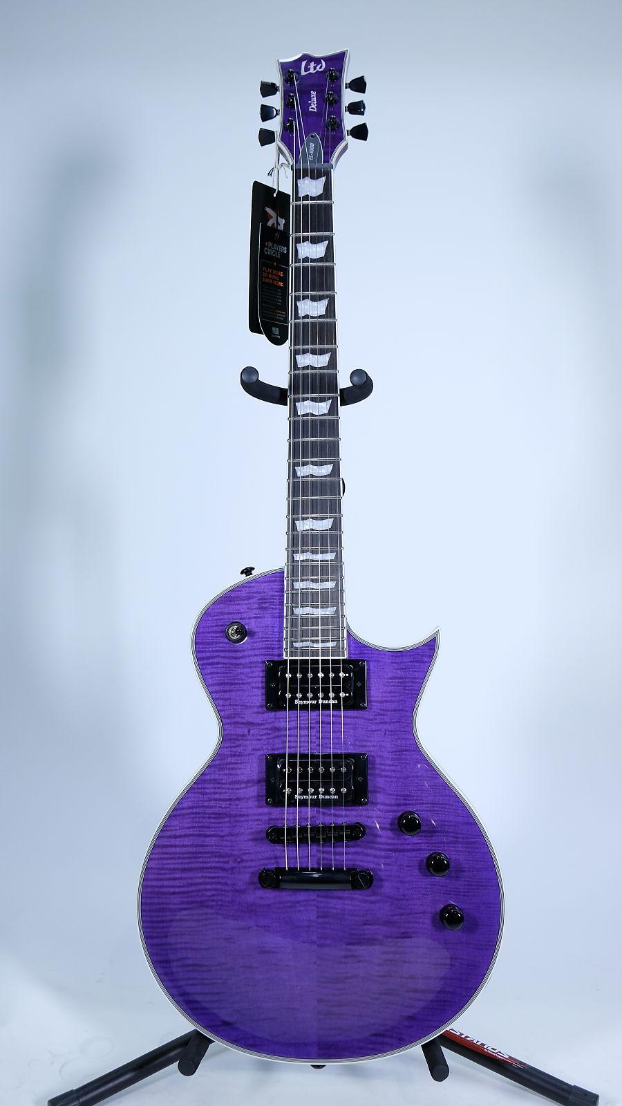esp ltd ec 1000 see thru purple. Black Bedroom Furniture Sets. Home Design Ideas