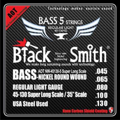 Blacksmith Nano Carbon Coated Bass Guitar 5 String Set - Regular  Light 45-130 - SL