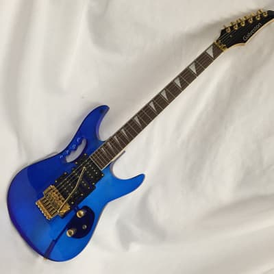 Galveston Lucite Monkey Grip Guitar 2010 Blue Lucite for sale
