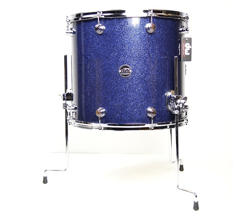 Dw performance series 16 x18 floor tom indigo reverb for 18 inch floor tom for sale