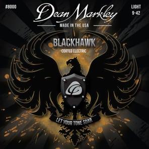 Dean Markley 8000 Blackhawk Coated Electric Guitar Strings - Light (9-42)