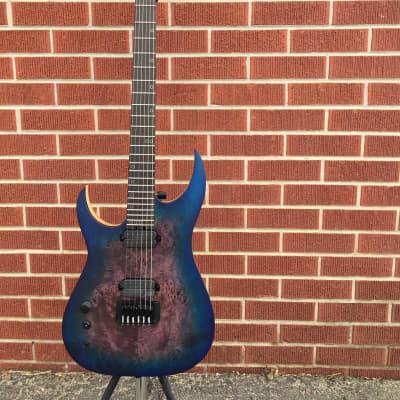 Schecter DIAMOND SERIES KM-6 MK-III Artist Blue Crimson  Left Handed 6-String Electric Guitar for sale