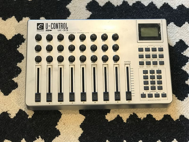 evolution u control uc 33 midi controller mixer reverb. Black Bedroom Furniture Sets. Home Design Ideas