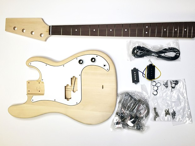 Short Scale P Bass Build Your Own DIY Electric Bass Guitar Kit