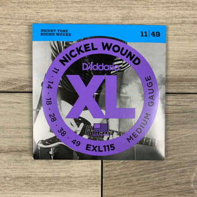 D'Addario EXL115 Nickel Wound Electric Guitar Strings, 11-49, Medium Set