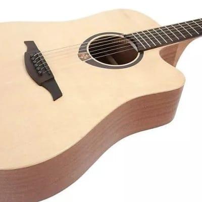 Lag T70DCE Tramontane 70 Dreadnought Cutaway Tropical Khaya Neck 6-String Acoustic-Electric Guitar