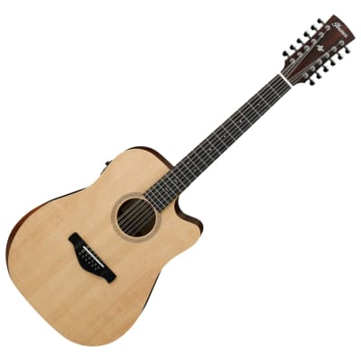Ibanez AW152CEOPN 12 String Acoustic Electric Open Pore Guitar