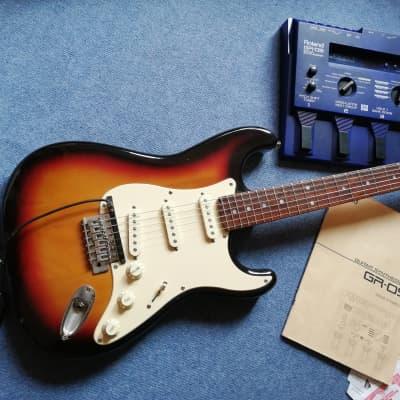 Eagle Stratocaster 1990's Sunburst + Roland GR09 Guitar Synth+GK-2A midi pickup for sale