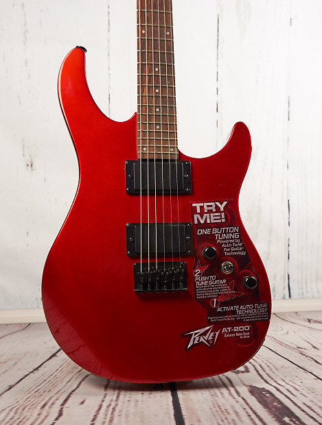 peavey at 200 auto tune self tuning electric guitar red reverb. Black Bedroom Furniture Sets. Home Design Ideas
