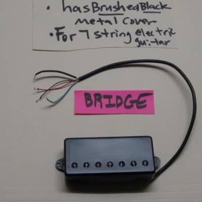 lite use Kiesel Beryllium BRIDGE Custom Shop Humbucker (for 7 string) black metal cover, Alnico II