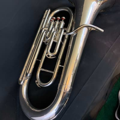 King  Silver Plated 2280SP 4 Valve Euphonium
