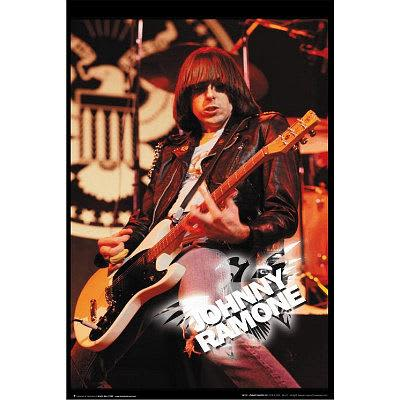 Johnny ramone live music poster motor city guitar reverb for Motor city guitar waterford