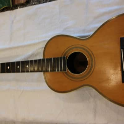 American Conservatory by Lyon and Healy Parlor Guitar 1909 circa Natural/Clear for sale