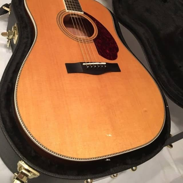 Fender Paramount PM1 Natural Acoustic Electric Guitar Dreadnought Standard with Case onboard tuner image
