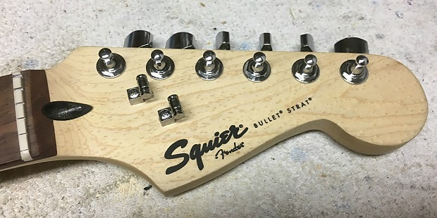2014 Squier Bullet Strat Neck - Rosewood - Upgraded Tuners and String  Guides - Great Shape