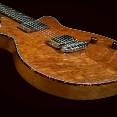 Grez Mendocino Custom 2021 Quilted OG Redwood Top, Tortoise Binding 5lbs 3oz NEW (Authorized Dealer) for sale