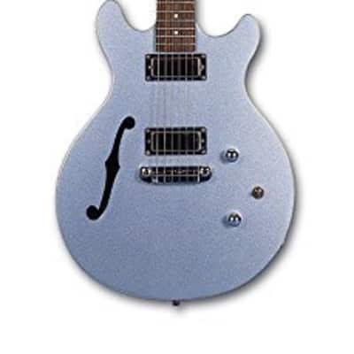 Daisy Rock DR6302 Stardust Retro-H Electric Guitar, Ice Blue Sparkle for sale
