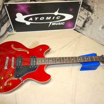 Oscar Schmidt by Washburn Delta King OE-30 OE30 ES-335 style Semi-Hollow Body Guitar Cherry for sale