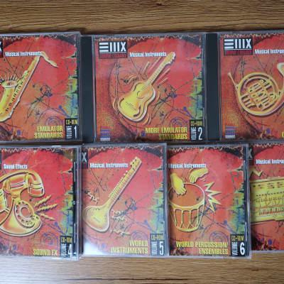 E-MU EIIIX Sound Library Volume 1, 2, 3, 4, 5, 6 & 8 CD-ROM's