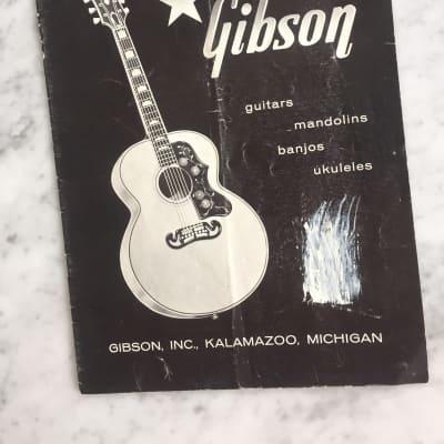 1959 Gibson Acoustic Guitars Catalog Rare Vintage Collector