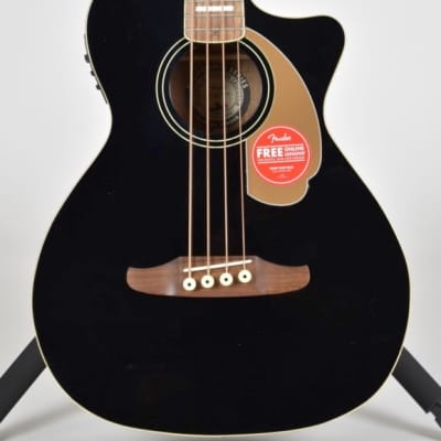 Fender California Series Kingman Bass V2 4-String Spruce / Mahogany with Walnut Fretboard Black