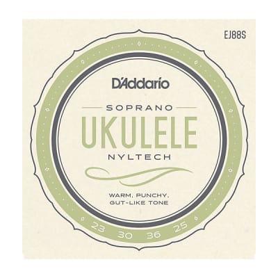 6-PACK! D'Addario EJ88S Nyltech Ukulele Strings Soprano