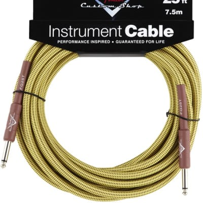 Fender® Custom Shop Cable, 25', Tweed for sale